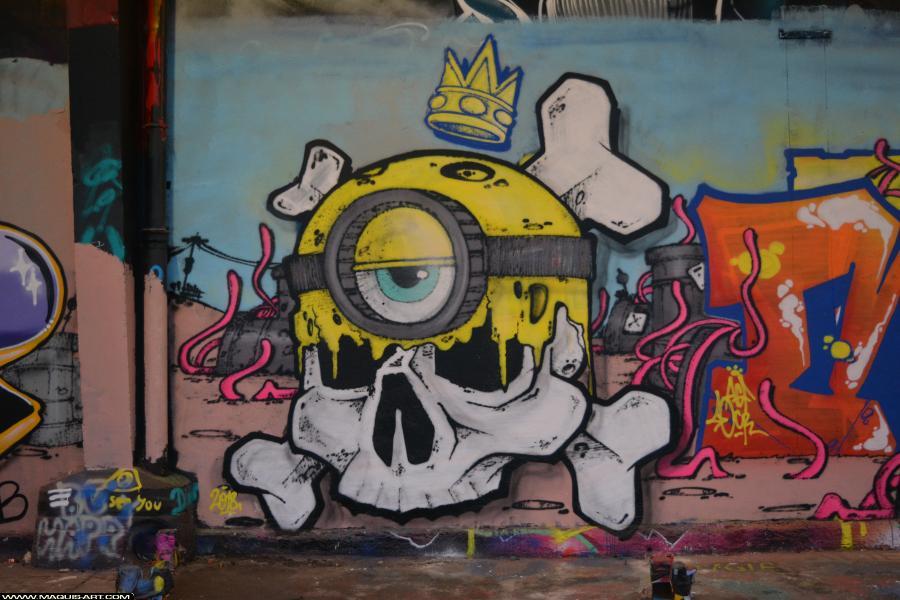 Photo de MIGE, réalisée au Maquis-art Wall of fame - L'aérosol, Paris