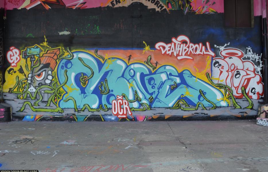 Photo de MIGE, OCR, réalisée au Maquis-art Wall of fame - L'aérosol, Paris
