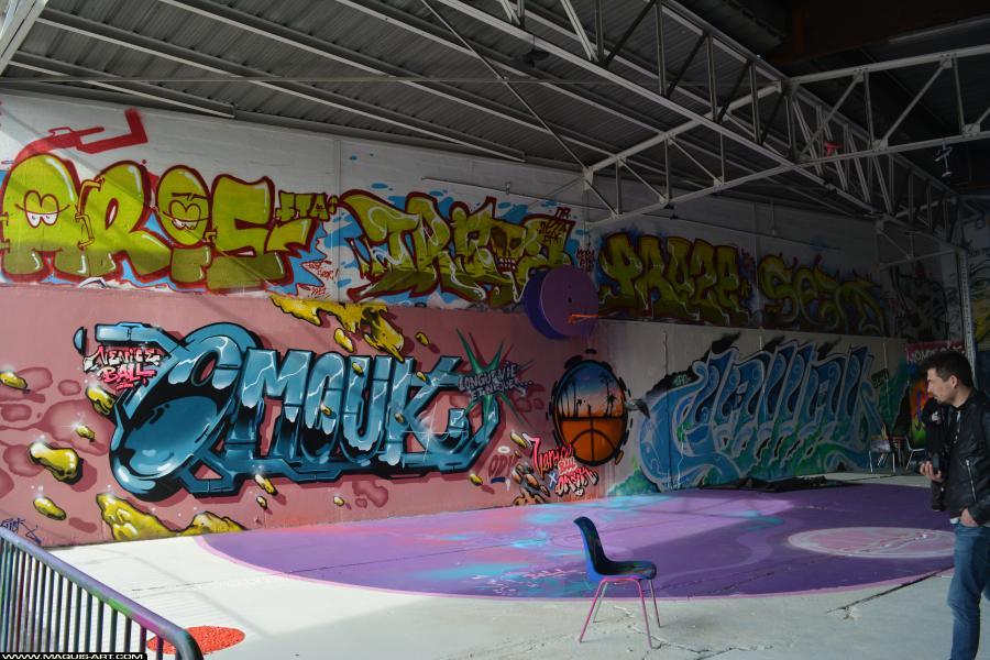 Photo de OMOUK, JALLAL, LFE, 319, FR75, ODV, réalisée au Maquis-art Wall of fame - L'aérosol, Paris