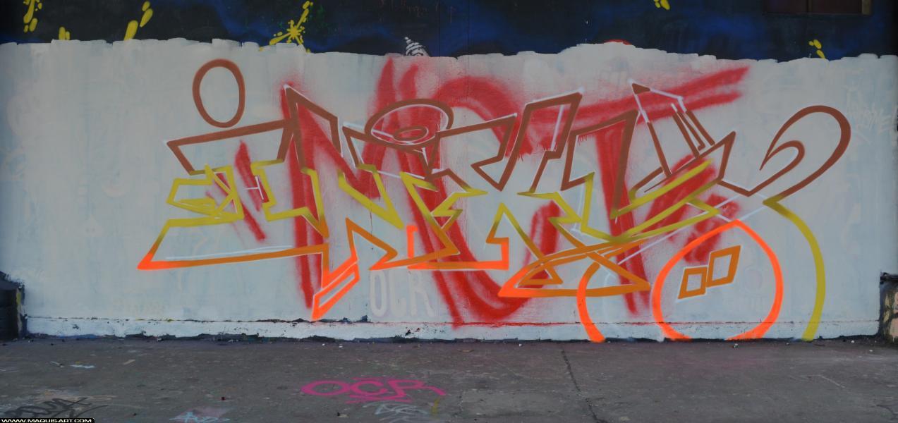 Photo de INXY, MCT, TMV, ODV, réalisée au Maquis-art Wall of fame - L'aérosol, Paris