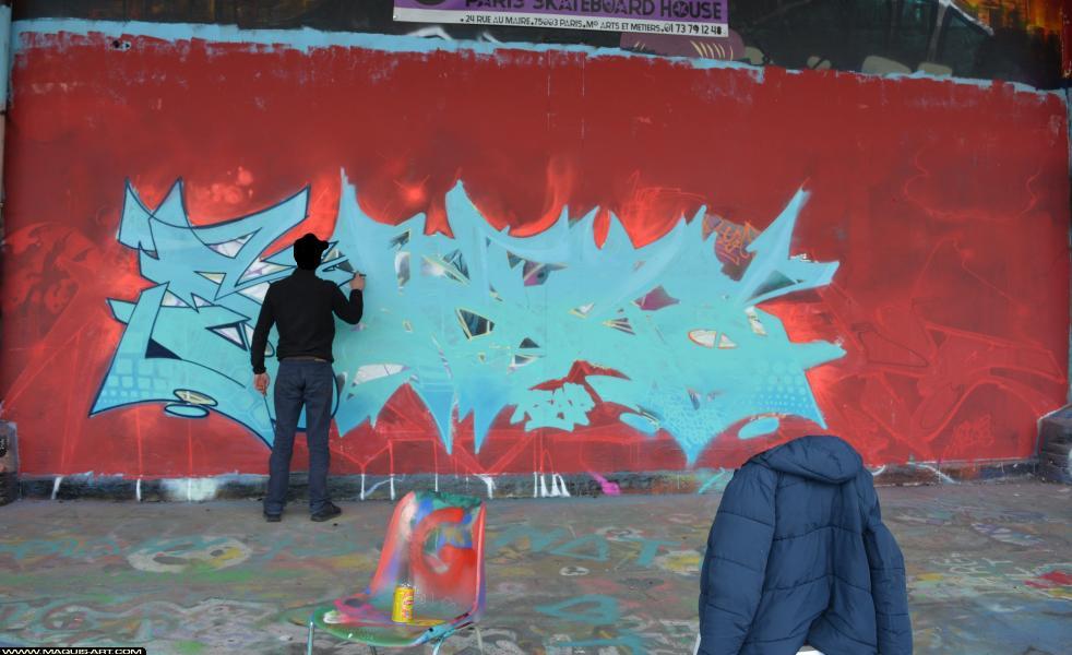 Photo de SEAZ (TVA CP5), NVM, OVF, OSC, réalisée au Maquis-art Wall of fame - L'aérosol, Paris