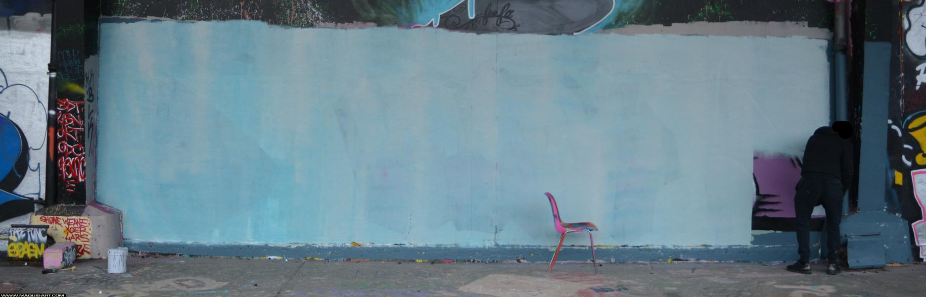 Photo de ZOYER, AOA, 3UP, réalisée au Maquis-art Wall of fame - L'aérosol, Paris