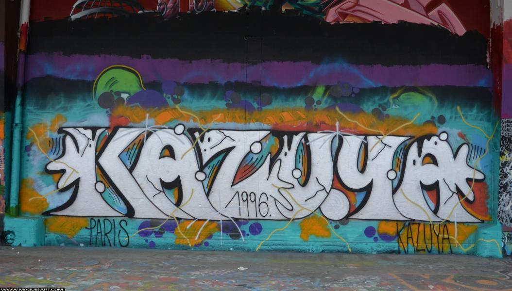Photo de KAZUYA, réalisée au Maquis-art Wall of fame - L'aérosol, Paris