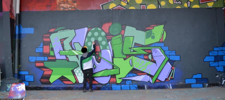 Photo de ROYS, réalisée au Maquis-art Wall of fame - L'aérosol, Paris