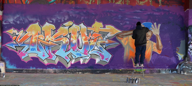 Photo de 1KULT, RDK, TVA, BANDIDOS, réalisée au Maquis-art Wall of fame - L'aérosol, Paris
