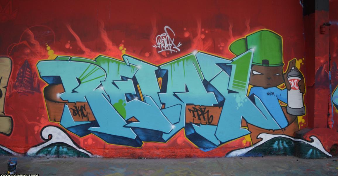 Photo de RELAX, DKC, TPK, réalisée au Maquis-art Wall of fame - L'aérosol, Paris
