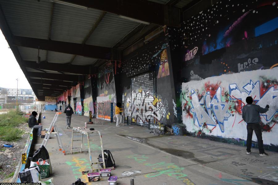 Photo de KISTOR, MEHA, réalisée au Maquis-art Wall of fame - L'aérosol, Paris