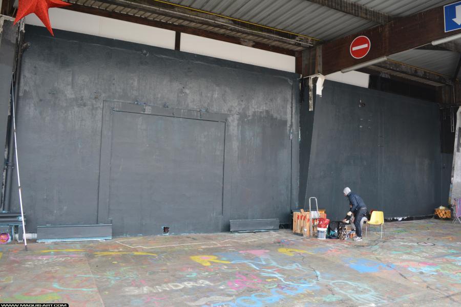 Photo de OMOUK, TAER, ODV, 319, FR75, ONOFF, réalisée au Maquis-art Wall of fame - L'aérosol, Paris