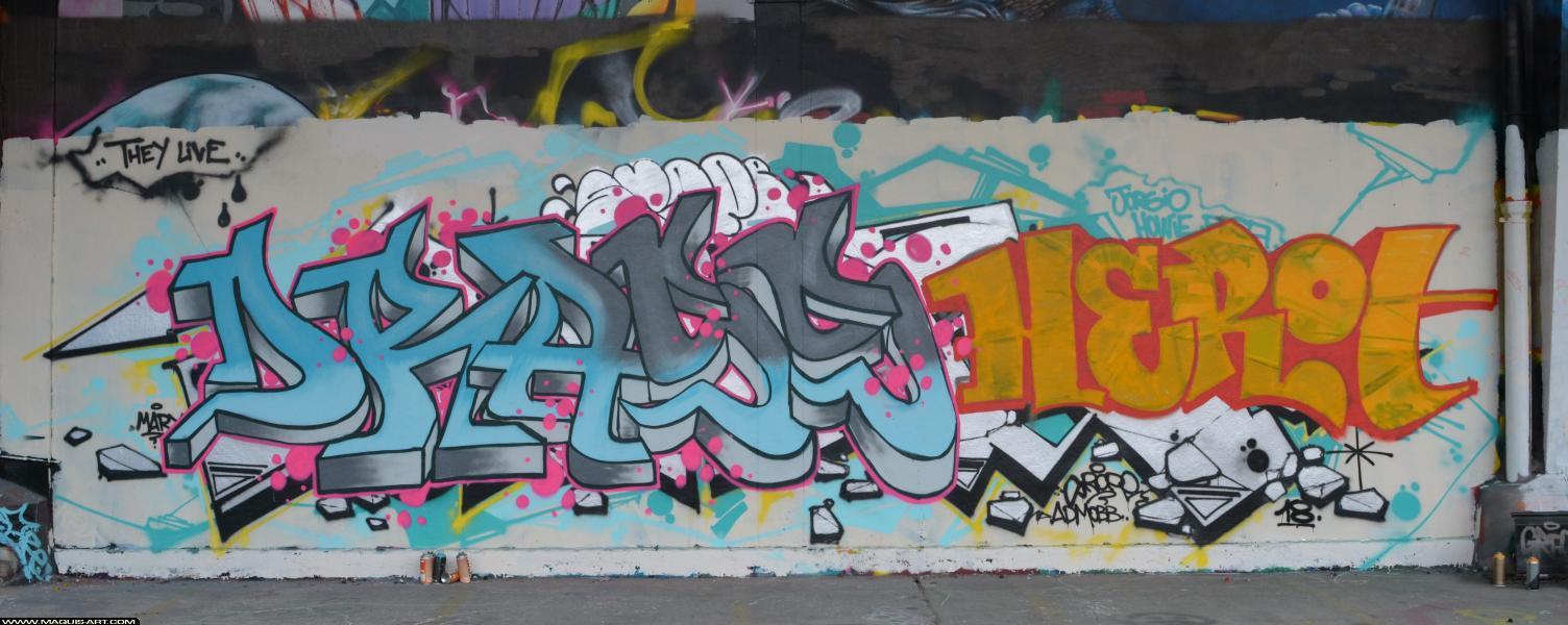 Photo de ???, ???, réalisée au Maquis-art Wall of fame - L'aérosol, Paris