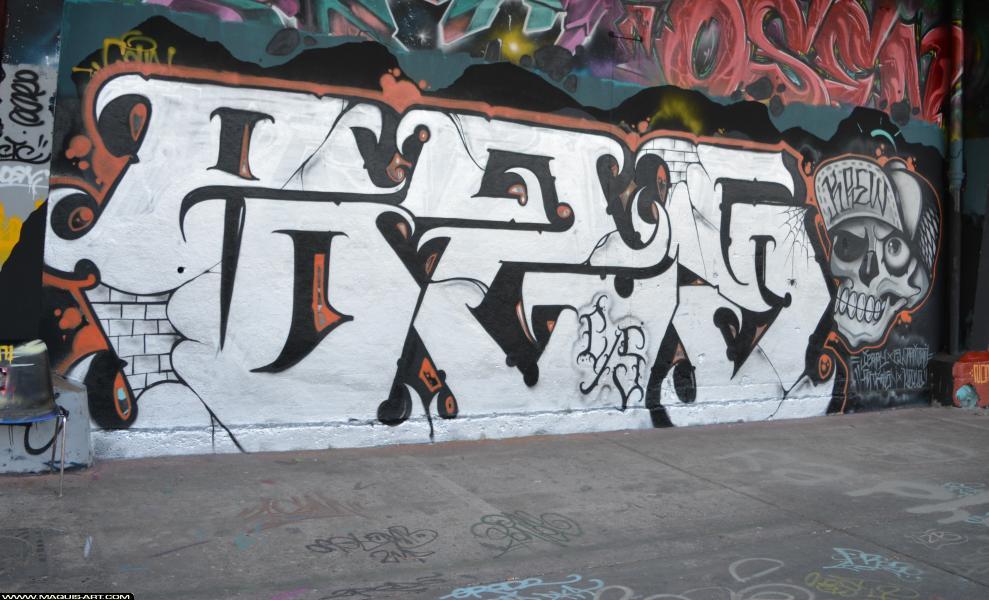 Photo de G2S, réalisée au Maquis-art Wall of fame - L'aérosol, Paris