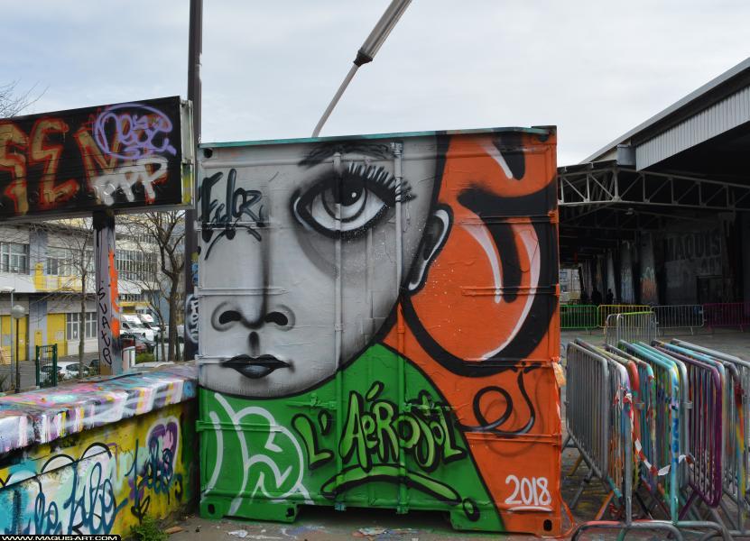 Photo de ECLOZ, réalisée au Maquis-art Wall of fame - L'aérosol, Paris