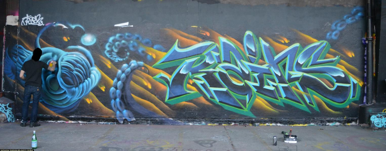 Photo de RAINS, CDB, réalisée au Maquis-art Wall of fame - L'aérosol, Paris