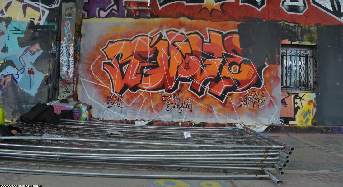 Photo de MK, réalisée au Maquis-art Wall of fame - L'aérosol, Paris