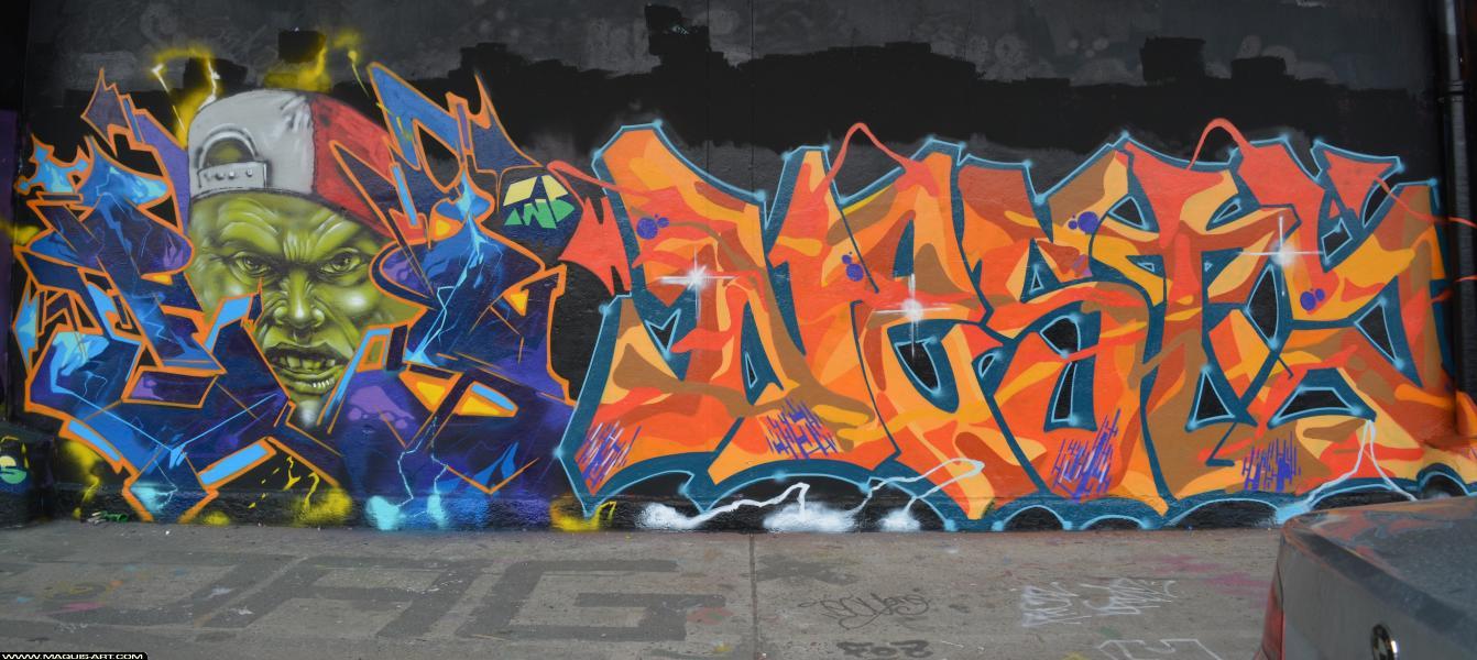 Photo de NESTA, FAST, réalisée au Maquis-art Wall of fame - L'aérosol, Paris