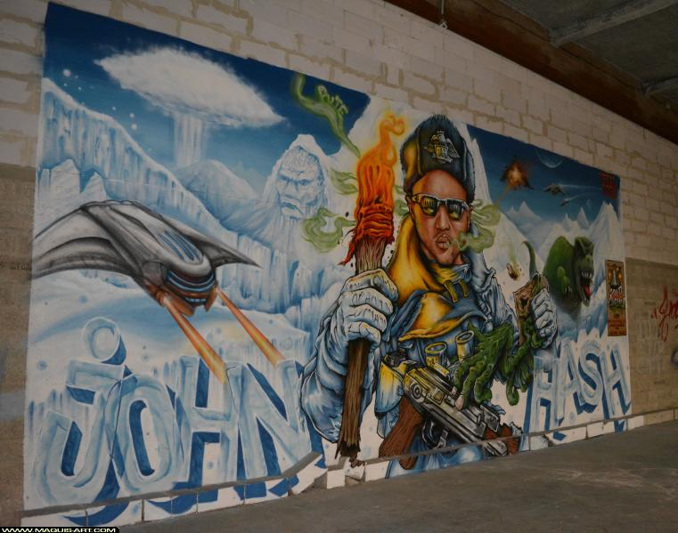 Photo de SOCK, TETAL, réalisée au Maquis-art Wall of fame - L'aérosol, Paris