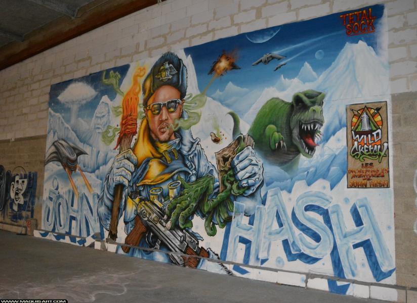 Photo de TETAL, SOCK, réalisée au Maquis-art Wall of fame - L'aérosol, Paris