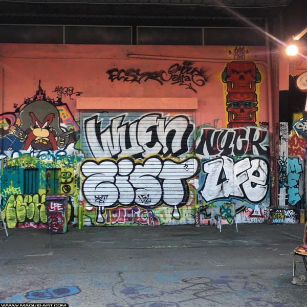 Photo de WUEN, ZIST, NUCK, LFE, réalisée au Maquis-art Wall of fame - L'aérosol, Paris