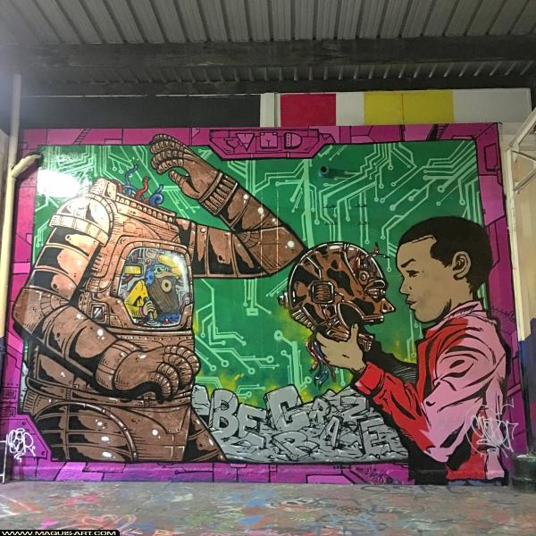 Photo de CRAZER, BER, réalisée au Maquis-art Wall of fame - L'aérosol, Paris
