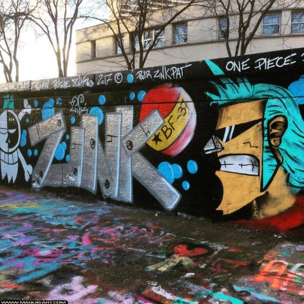 Photo de ZINK, réalisée au Maquis-art Wall of fame - L'aérosol, Paris