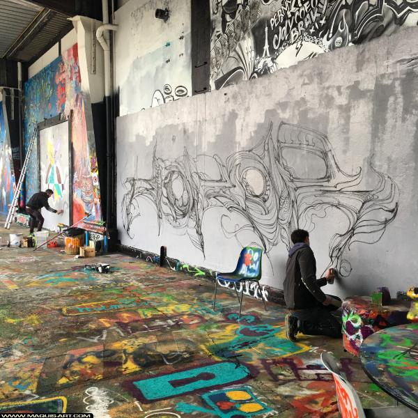 Photo de réalisée au Maquis-art Wall of fame - L'aérosol, Paris