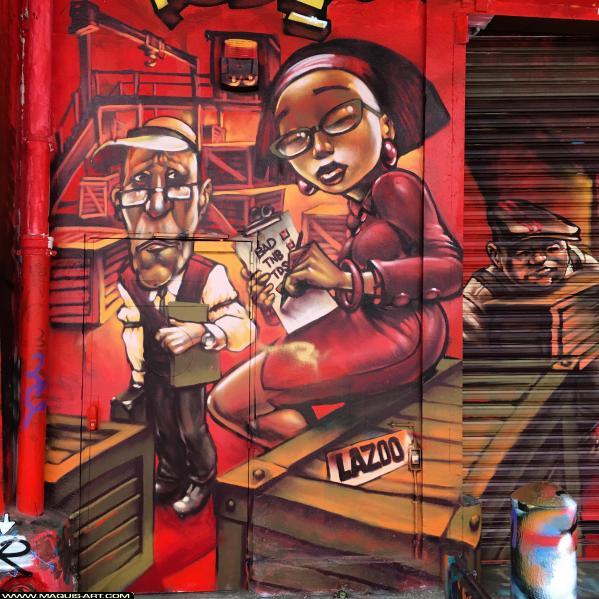 Photo de LAZOO, réalisée au Maquis-art Wall of fame - L'aérosol, Paris