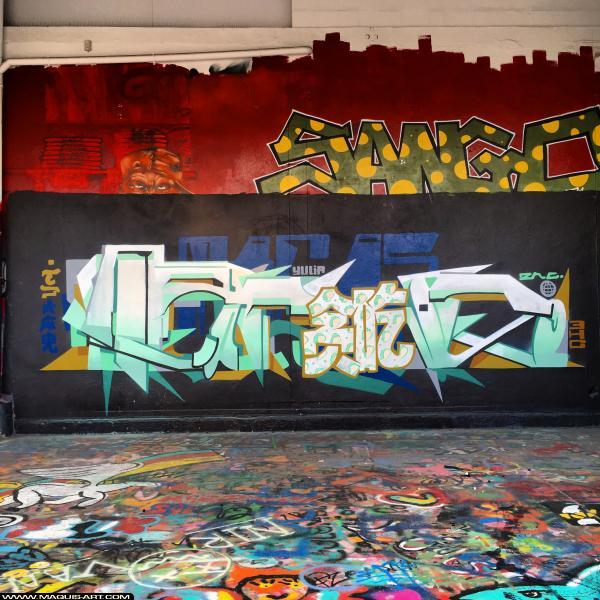 Photo de SANGO, 3HC, réalisée au Maquis-art Wall of fame - L'aérosol, Paris