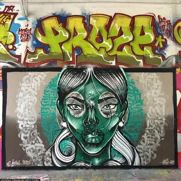 Photo de PROZE (3ER LFE), JALLAL, réalisée au Maquis-art Wall of fame - L'aérosol, Paris
