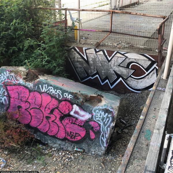 Photo de REKIO, MKC, réalisée au Maquis-art Wall of fame - L'aérosol, Paris