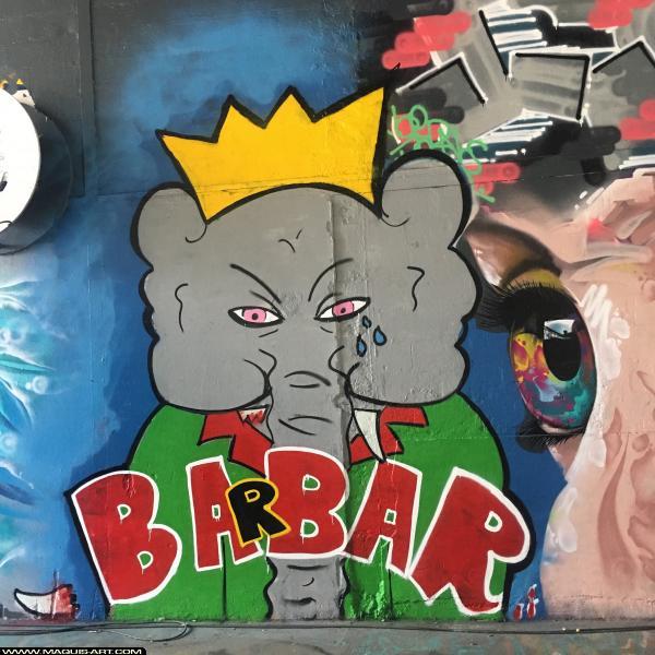 Photo de GEBRANE, réalisée au Maquis-art Wall of fame - L'aérosol, Paris