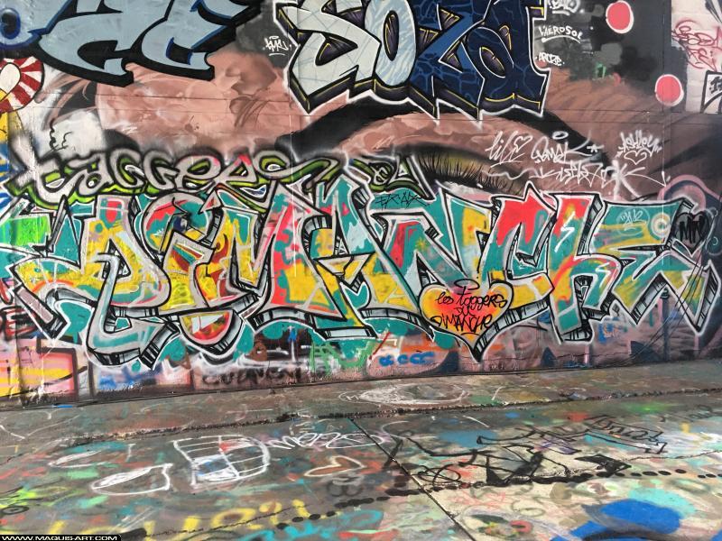 Photo de SOZA (TMC), réalisée au Maquis-art Wall of fame - L'aérosol, Paris