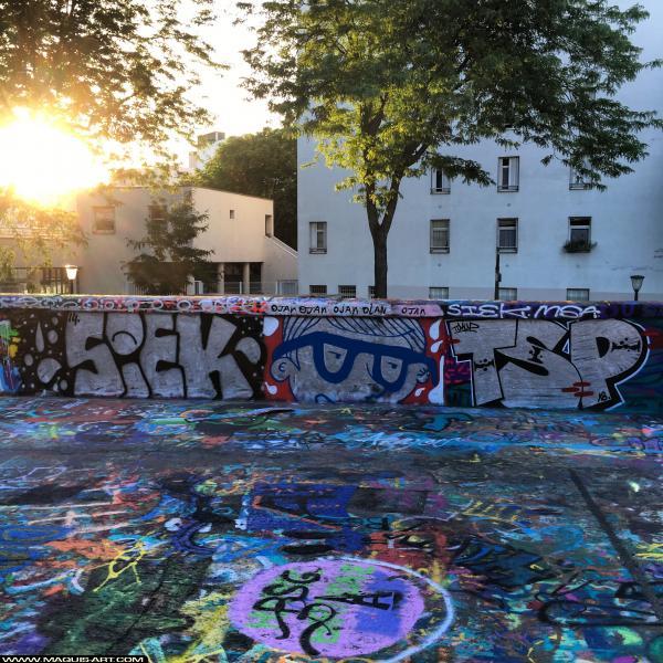 Photo de SIEK, TSP, réalisée au Maquis-art Wall of fame - L'aérosol, Paris