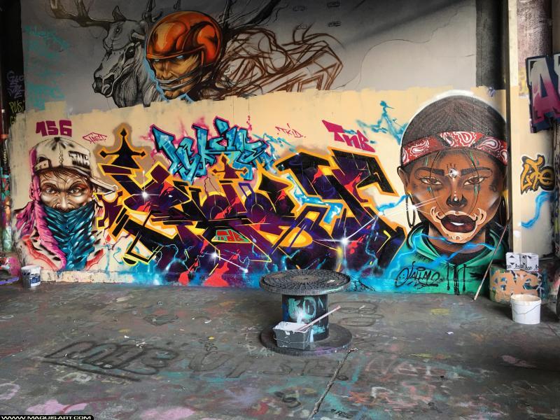 Photo de FAST, JALLAL, réalisée au Maquis-art Wall of fame - L'aérosol, Paris