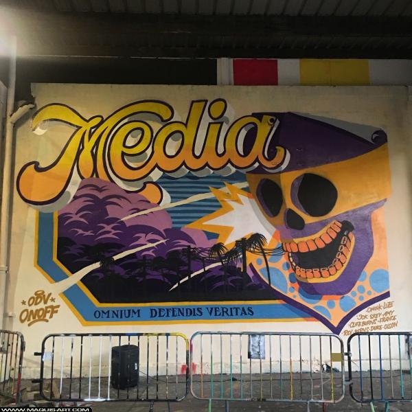 Photo de MEDIA (ODV), réalisée au Maquis-art Wall of fame - L'aérosol, Paris